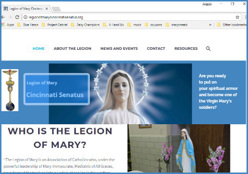 Regional Website for Legion of Mary (Cincinnati Senatus)