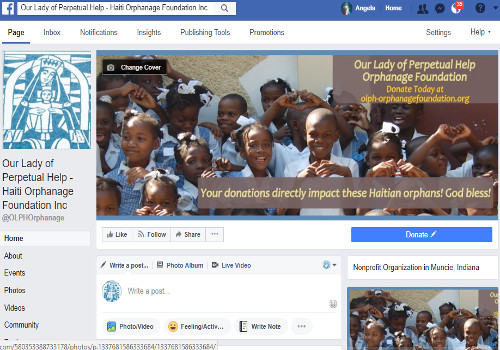 Facebook Page for Our Lady of Perpetual Help Orphanage
